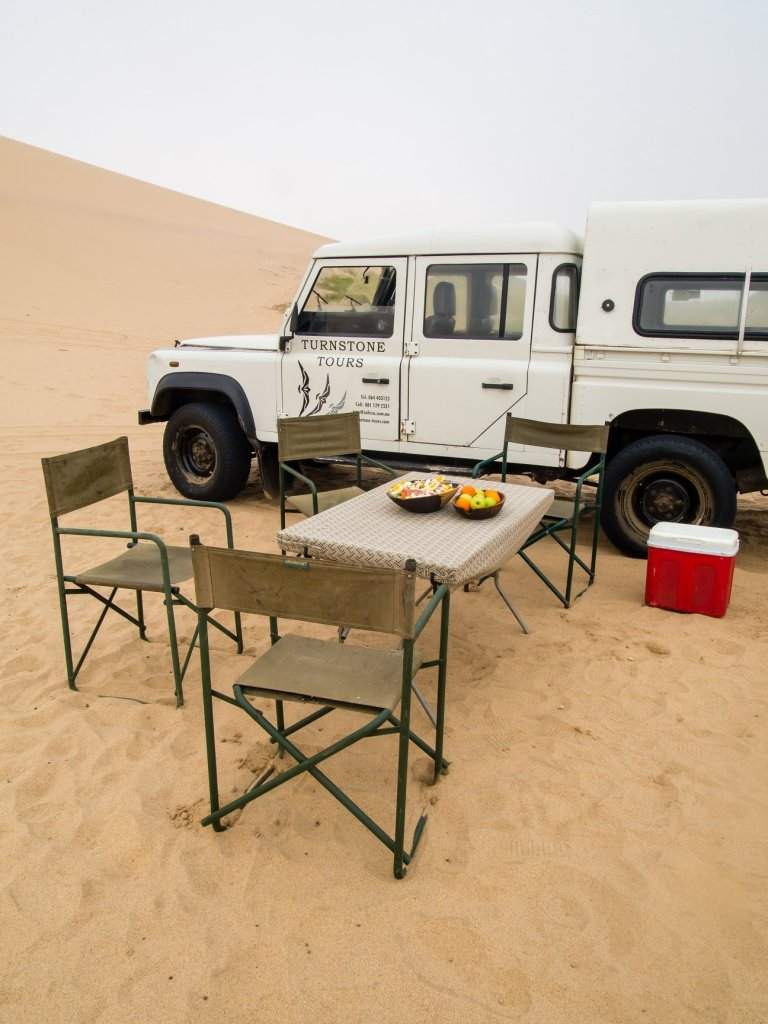 Lunch spot among the Dunes