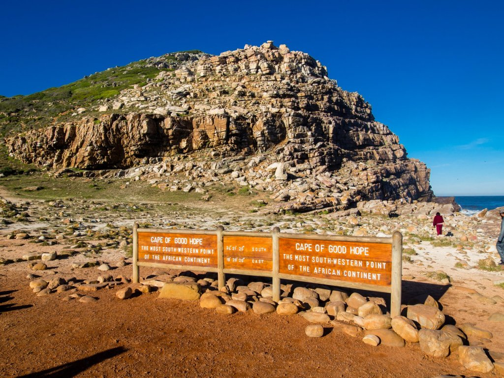 Signs at Cape of Good Hope in South Africa