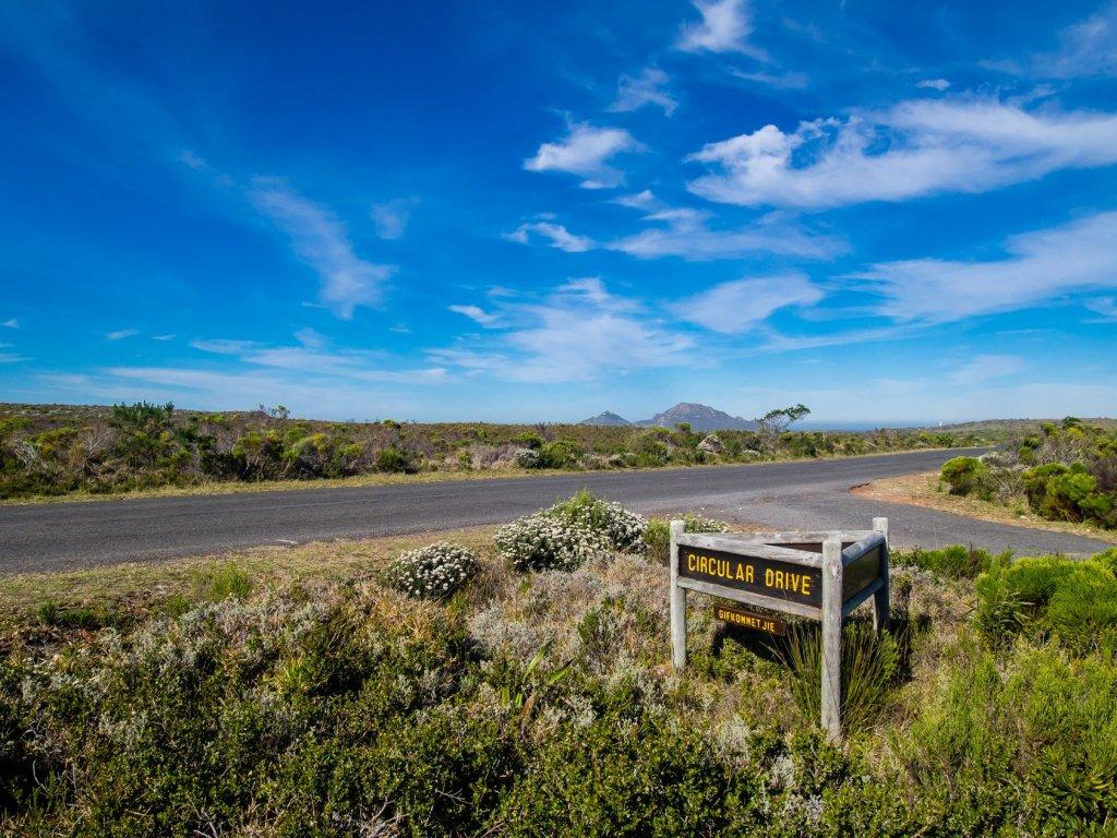 Biking at the Cape Peninsula Nature Reserve in South Africa