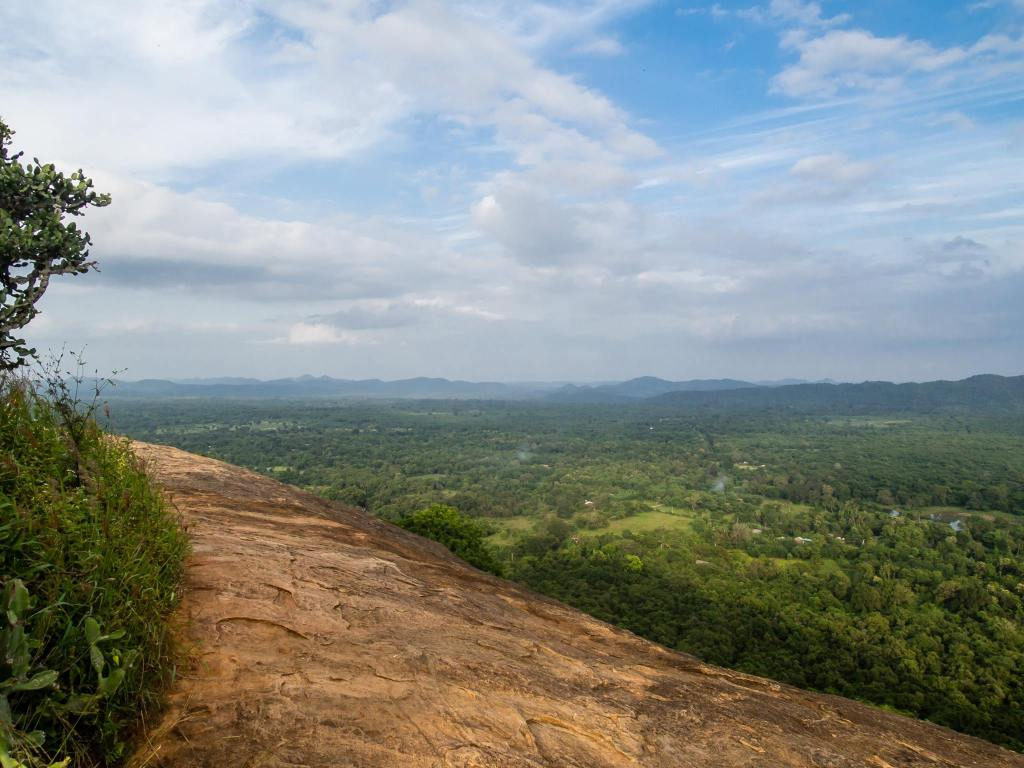 On the top of Pidurangala Rock
