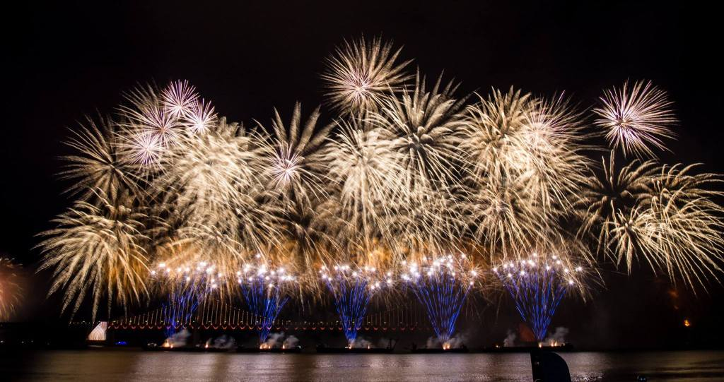 Busan Fireworks Festival from Gwangalli Beach