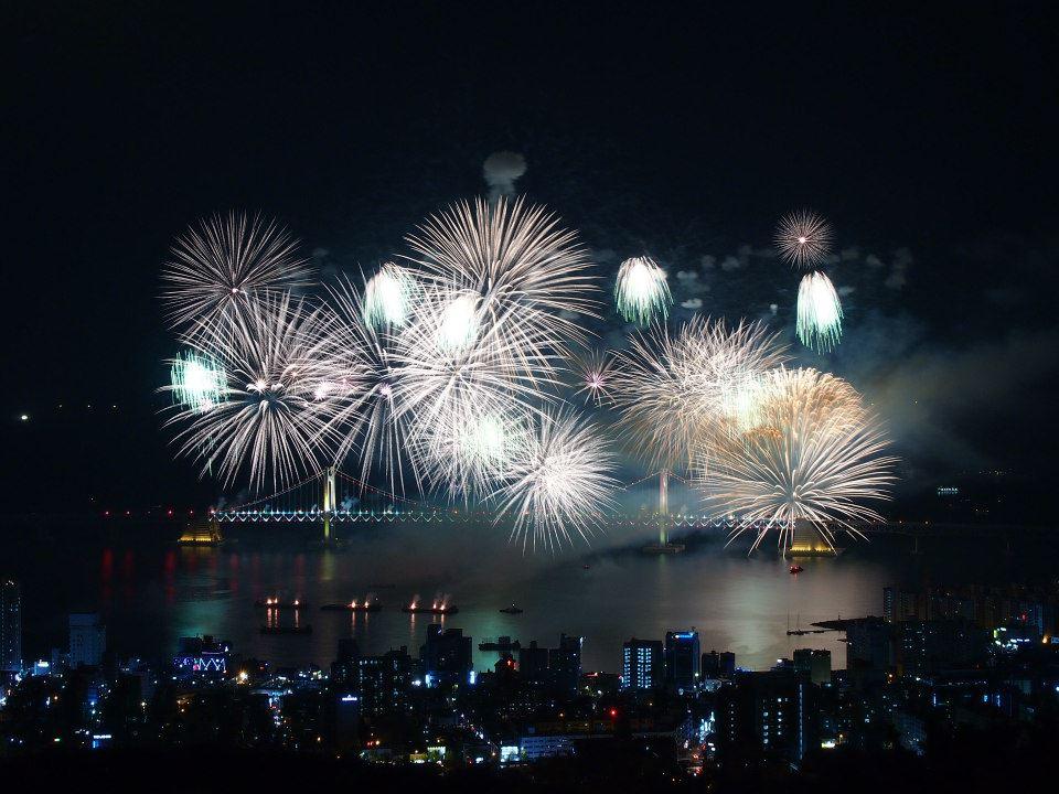 Busan Fireworks Festival from Geumryeongsan