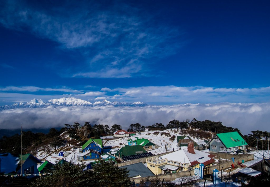 Sandakphu, highest peak in West Bengal.