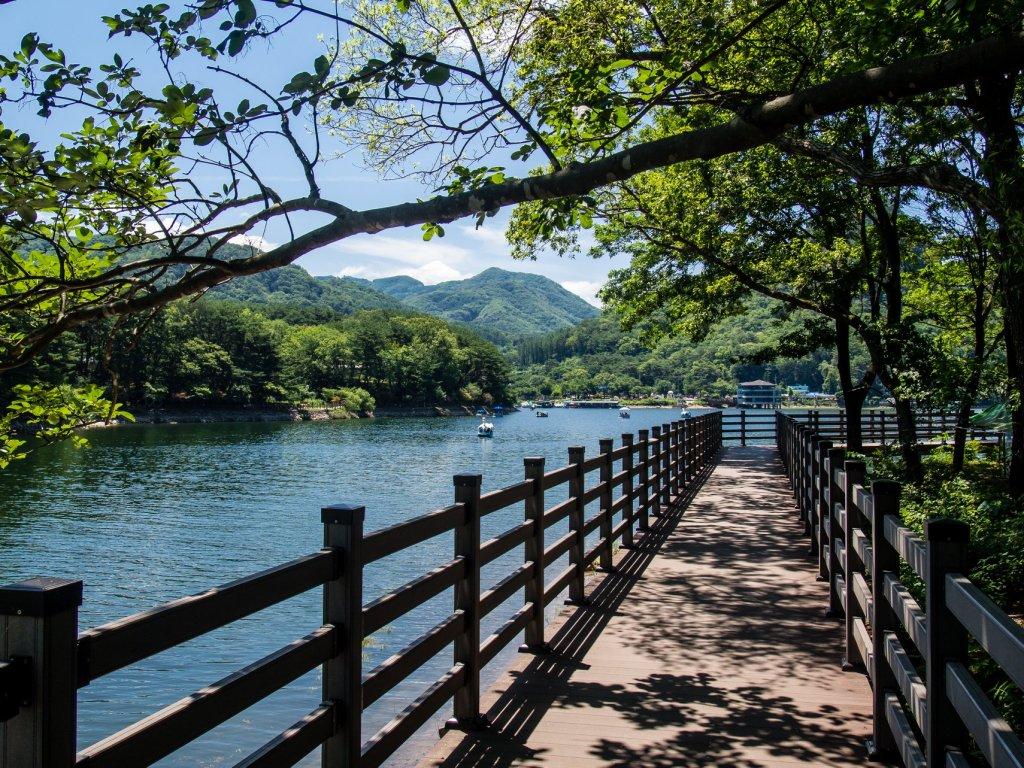 Boardwalk around Sanjeong Lake