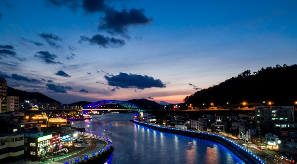 Tongyoung Bridge at Blue Hour