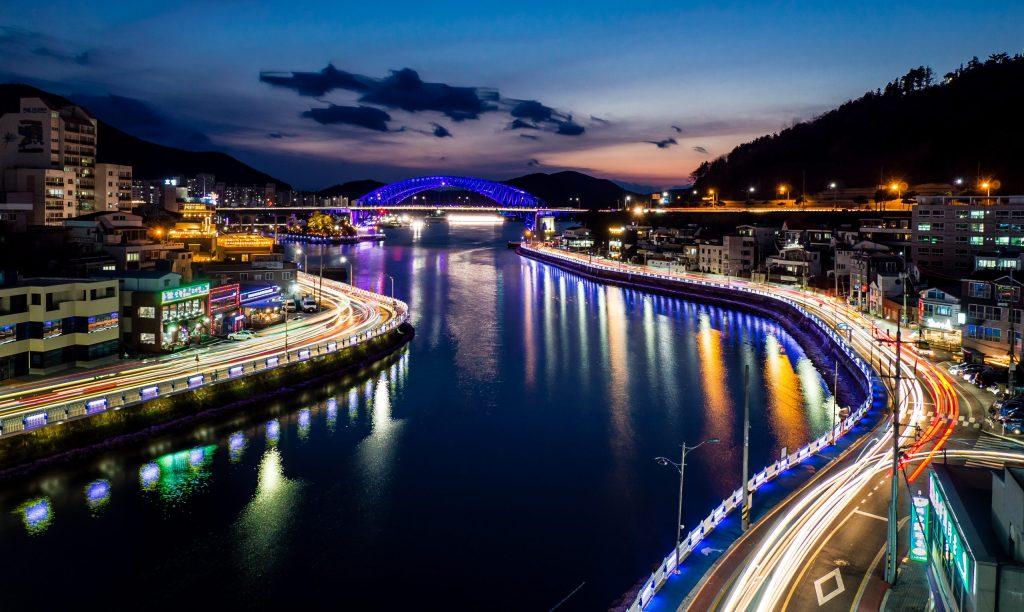 Night view of Tongyeong