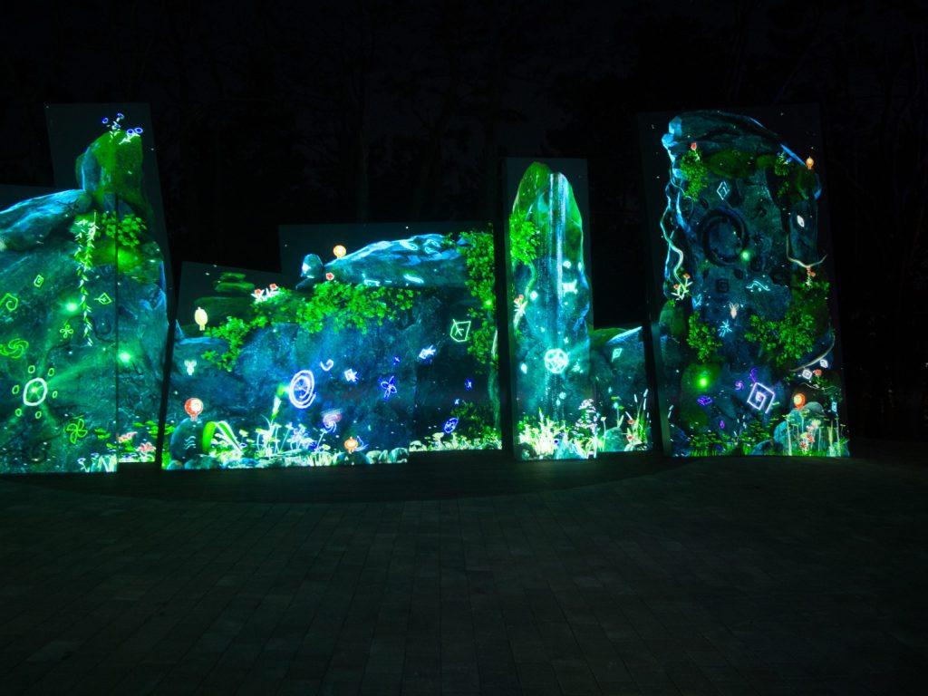 Multimedia Projections at Dipirang
