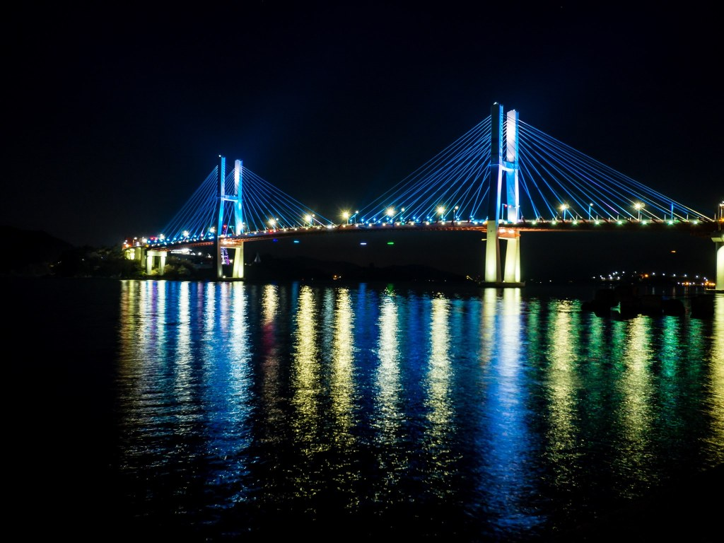 Samcheonpo Bridge night view