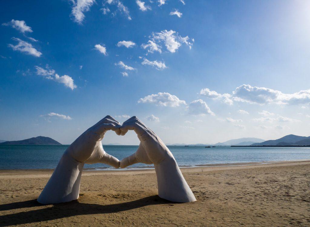 Famous Photo zone at Yulpo Beach, Boseong