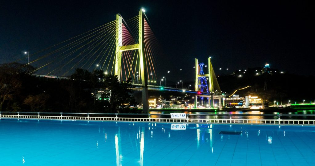 Night view of Hotel Haven Swimming Pool