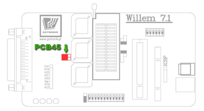 Konfiguracja programatora do wersji PCB4.5/5.0 [oprogramowanie w wersji 0.98xx]