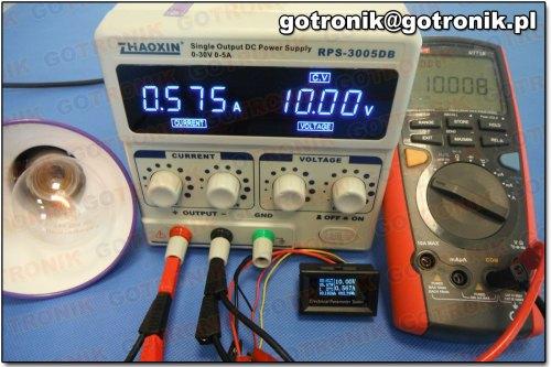 Pomiar napięcia przy 10 V