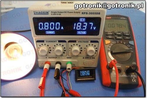 Pomiar prądu przy 0,800 A