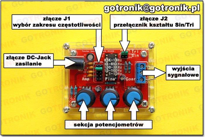 generator funkcyjny XR2206 - opis funkcjonalny