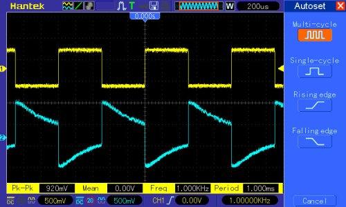 pomiar 6: regulacja tonów niskich (basów) wartość minimalna