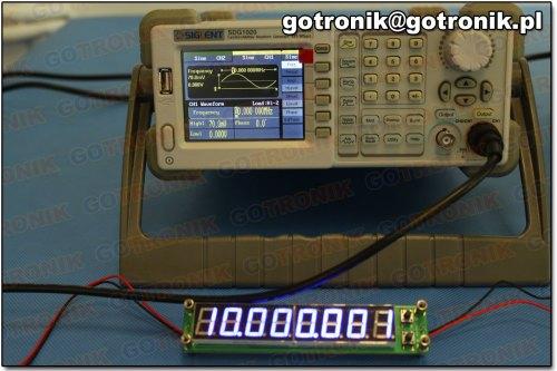 Pomiar częstotliwości: 10 MHz