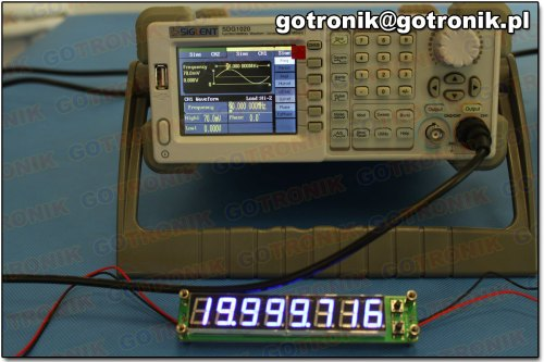 Pomiar częstotliwości: 20 MHz