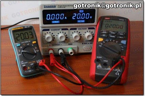 Pomiar napięcia 20V DC (miernik 102)