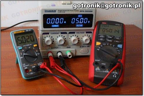 Pomiar napięcia 5V DC (miernik 102)