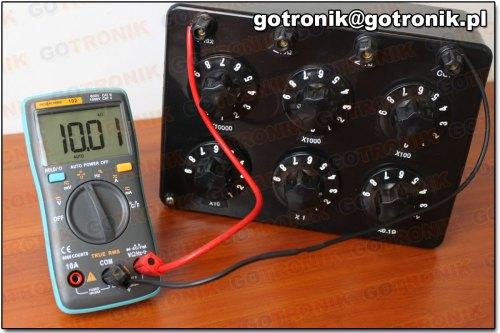 Pomiar rezystancji 10 kOhm (102)