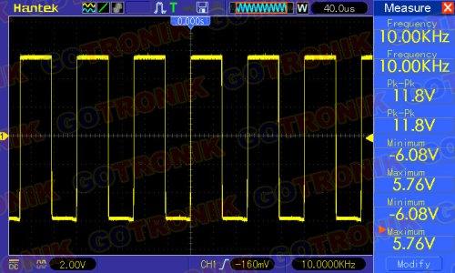 Sygnał prostokątny 10 kHz