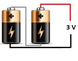 Połączenie baterii szeregowo