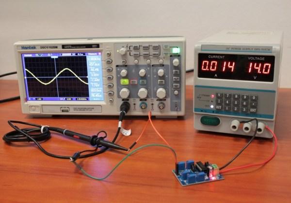 Przebieg sinusoidalny o częstotliwości