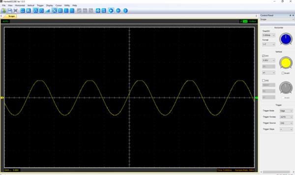 Pomiar 2: f=100Hz, amplituda 10V