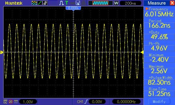 Pomiar 7: f=6MHz