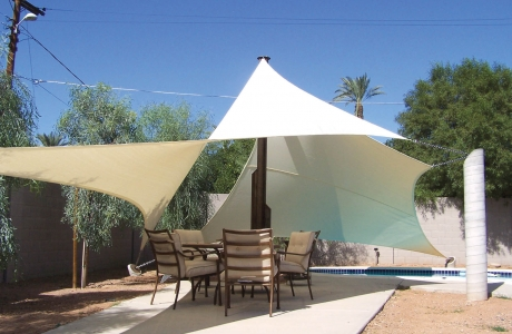 shade sails shade sails los angeles california and las on Round Shade Sail id=62440
