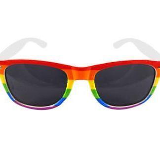 5857ebe47d7 ... Top Unisex Rainbow Gay Pride Carnival Dark Sunglasses LGBT Accessory