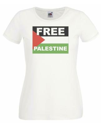 Ladies Free Palestine t-shirt in support for no war