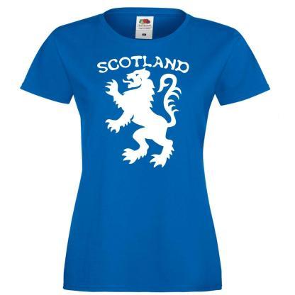 Ladies Scottish Lion Royal Banner of Scotland Flag Symbol Rugby Football T-Shirt