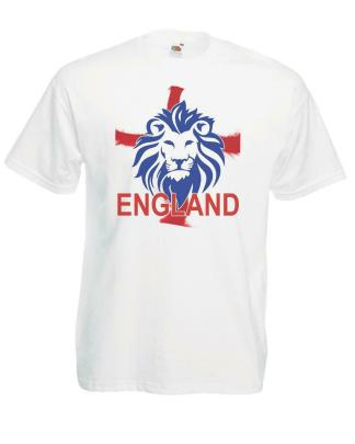 Mens English Lion England St George Cross Rugby Football Supporters T-Shirt