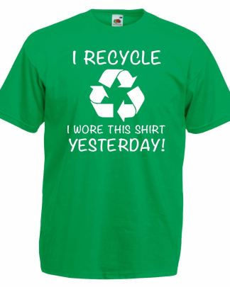 recycle reuse and help the earth green t-shirt