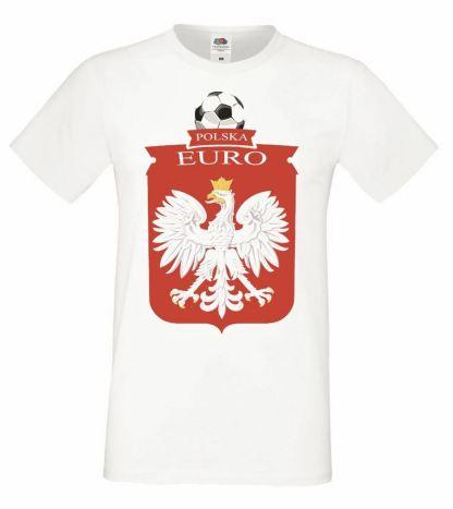 Mens White Poland T-Shirt Euros Football Polish Supporter T Shirt Polski