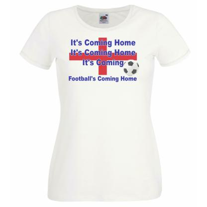 Ladies Footballs Coming Home England Euro Supporters Football