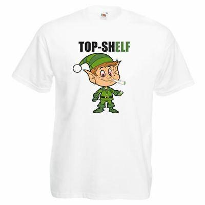 Elf Top Sh-Elf Christmas T-shirt Spliff Weed Xmas