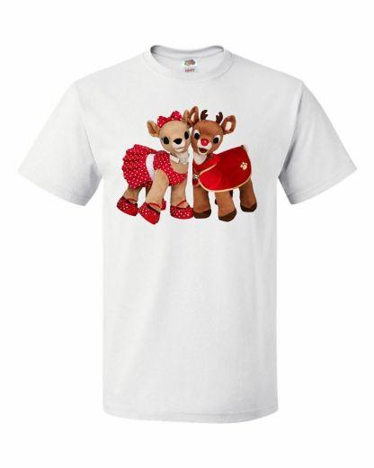 Christmas Teddy Reindeers Rudolf Unisex T-Shirt Xmas
