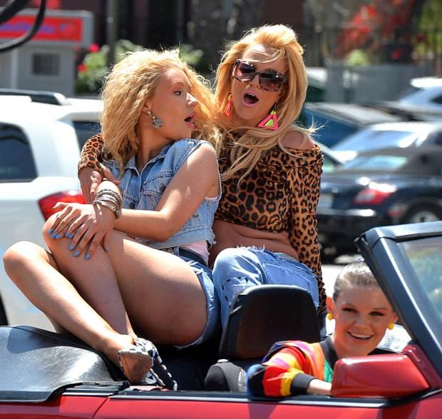 Iggy Azalea and Britney Spears Film a Music Video on Ventura Blvd