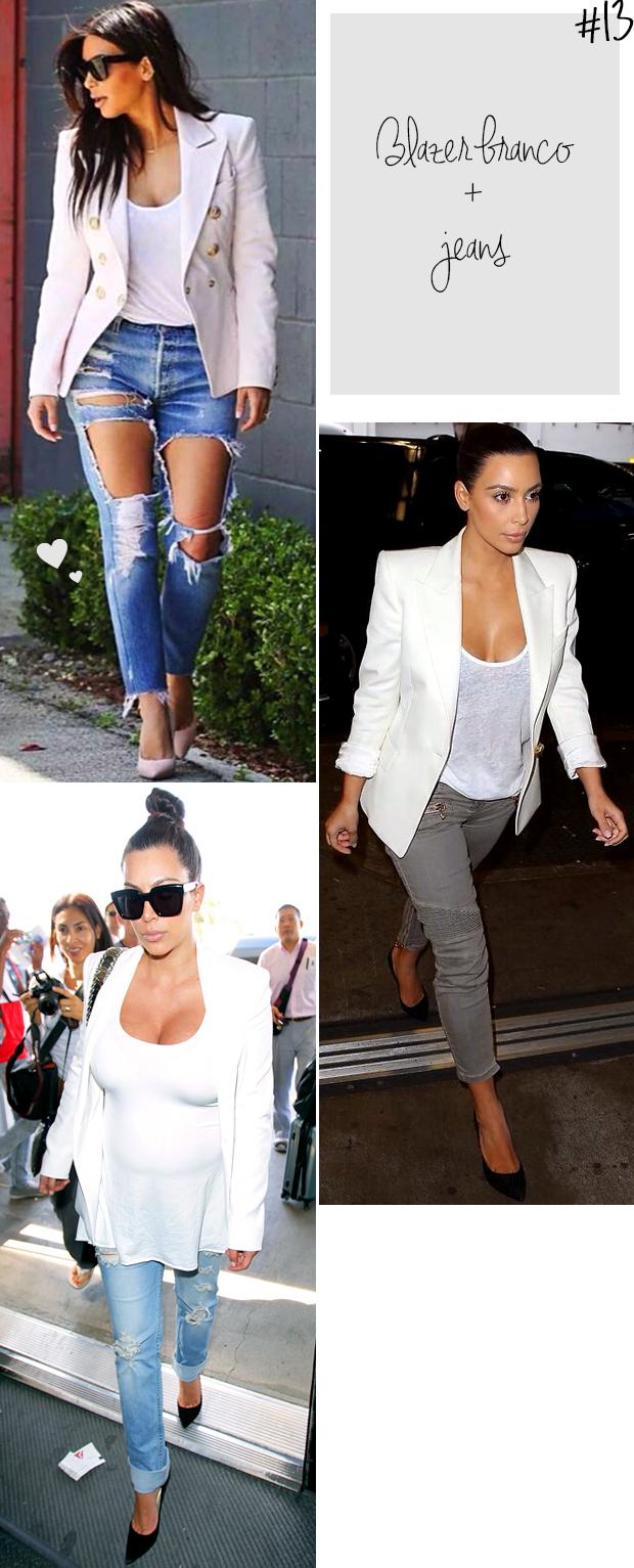 kim kardashian blazer branco t-shirt decotada blog got sin 2