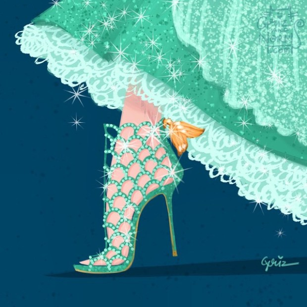 sapatos princesas disney shoes princess blog got sin ariel pequena sereia little mermaid sergio rossi caged shoes