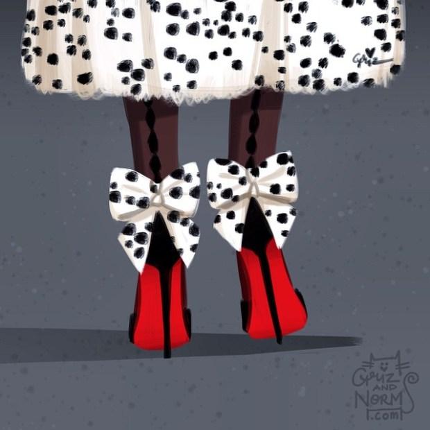 sapatos princesas disney shoes princess blog got sin cruela devil 101 dalmatas louboutin