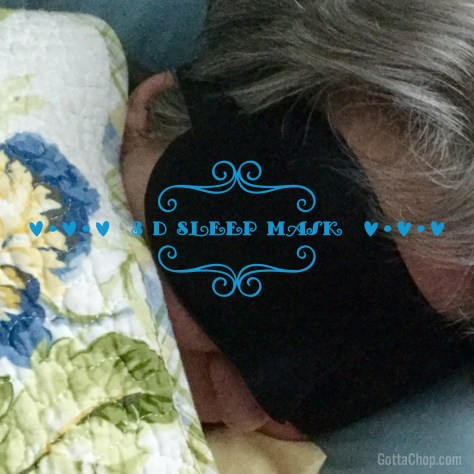 3 d sleep mask on angie