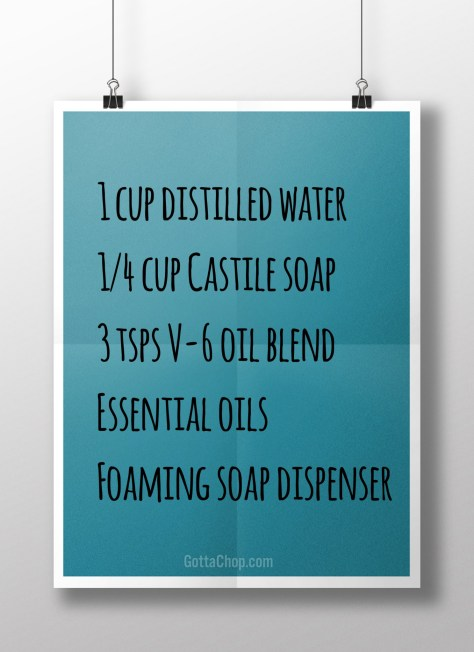 Foaming hand wash recipe
