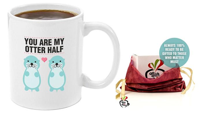 romantic birthday gifts for boyfriend otter mug