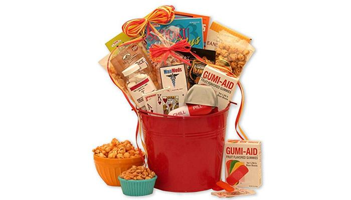 get well baskets for him