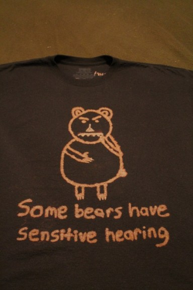 Some bears have sensitive hearing shirt