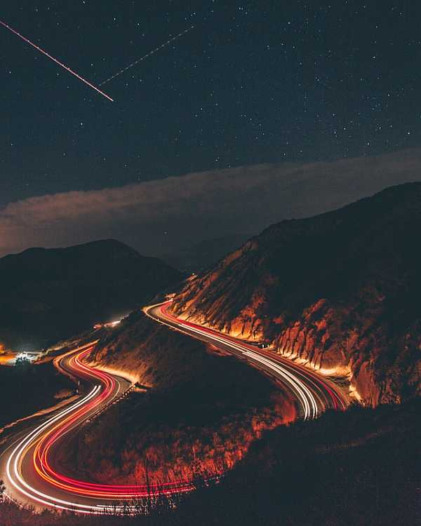 Long exposure with night traffic