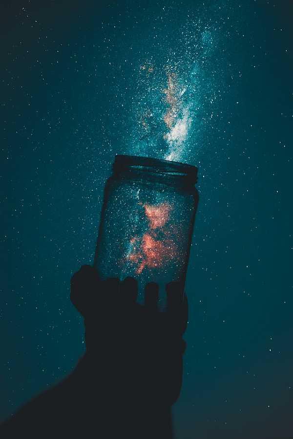 Night sky in a jar